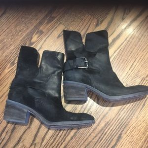 Donald Pliner black Moto boots